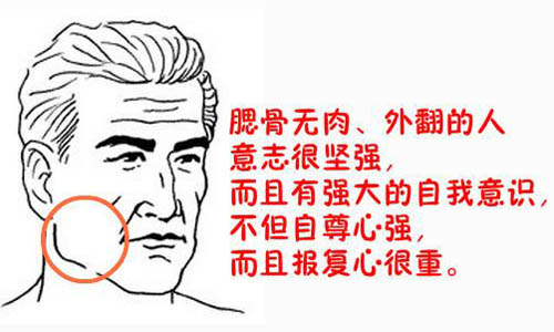 腮骨外翻凸出的人性格特点、感情运势和事业发展